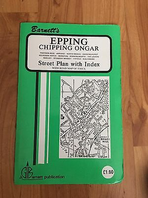 Barnett And Son Map Of Epping Chipping Ongar&surrounding Areas.Street Plan
