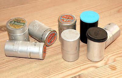 8 Empty vintage Film Canisters 7 x 35mm 1x 120