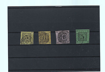 Baden 1851 - 1858 Stamps Collection On Stockcard