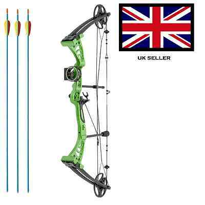 SILCO GREEN DRAGON ADULT COMPOUND ARCHERY BOW 30-55lbs  WITH 3 ARROWS & ACCS