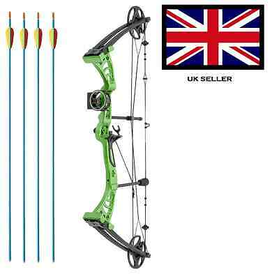 SILCO GREEN DRAGON ADULT COMPOUND ARCHERY BOW 30-55lbs  WITH 4 ARROWS & ACCS