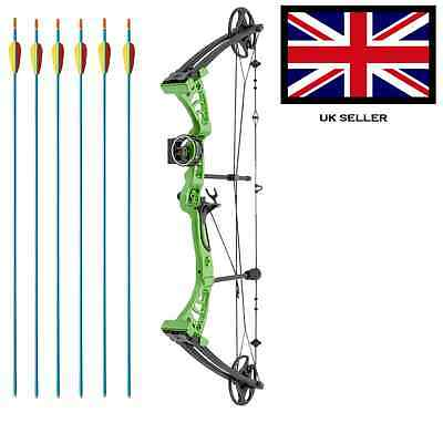 SILCO GREEN DRAGON ADULT COMPOUND ARCHERY BOW 30-55lbs  WITH 6 ARROWS & ACCS