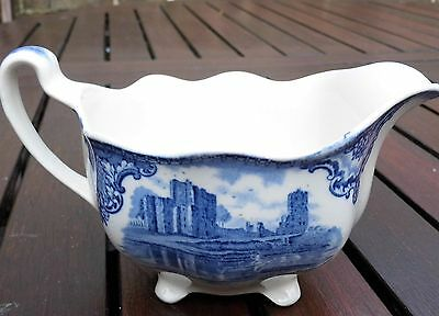 Vintage Johnson Bros Porcelain China Gravy / Sauce Boat Blue