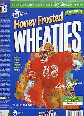 Ronnie Lott--1997 Honey Frosted Wheaties Cereal Box--San Francisco 49ers