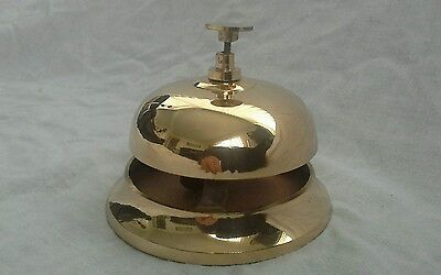 Brass Finish Hotel Service/ Desk Bell.