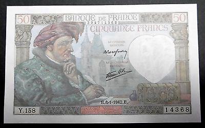 50 FRANCS JACQUES COEUR Type 1941 - 08/01/1942 NEUF