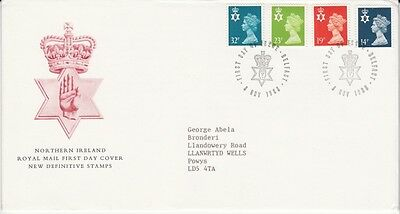 1988 14p, 19p, 23p & 32p Northern Ireland Definitive - Belfast H/S FDC.