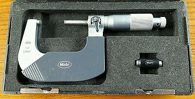 """MAHR 1-2"""" VERNIER MICROMETER No 40A USED but functional and accurate on test"""