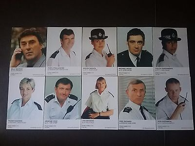 The Bill Police Tv Series Unsigned Cast Cards  X 10