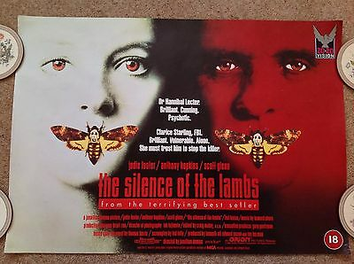The Silence of The Lambs official poster 59cm x 42cm