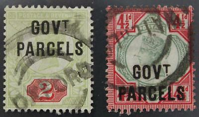 Great Britain #O33 & O32 Used, GOVT Parcels Overprint, No Tears Or Thins