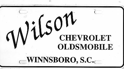 Wilson Chevrolet-Olds Dealership License Plate Car Tag-Winnsboro, South Carolina