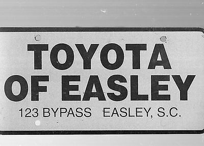 Toyota Of Easley Dealership License Plate Car Tag-Easley, South Carolina