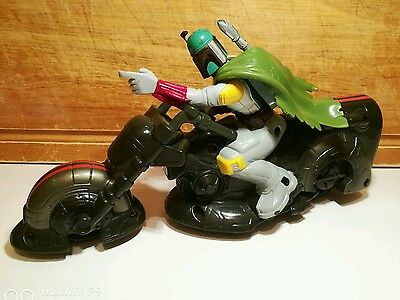 Hasbro 2005 star wars boba fett rev & go action bike.Rare