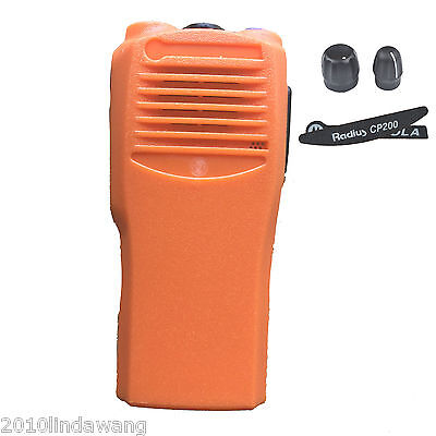 Orange Replacement Repair case Housing cover for Motorola CP200 portable Radio