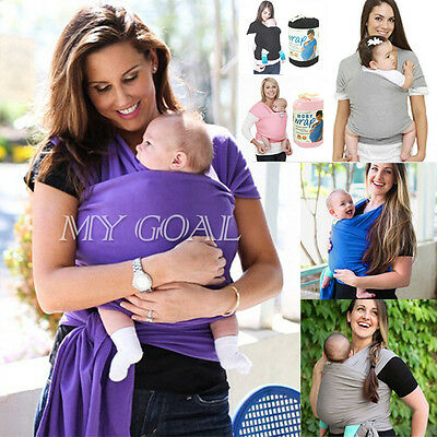 Baby Sling Wrap Stretchy Adjustable Carrier Birth Breastfeeding Toddler Newborn