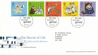 2003 DNA:The Secret of Life - Tallents House H/S FDC.