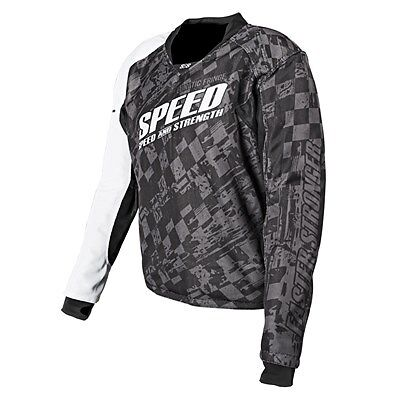 Speed and Strength Lunatic Fringe Mesh Armored Jersey Black 2XL