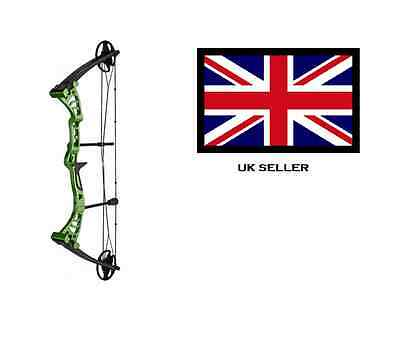 GREEN DRAGON ADULT COMPOUND ARCHERY BOW 30-55lbs + 2 ARROWS & 5 X 40CM TARGETS