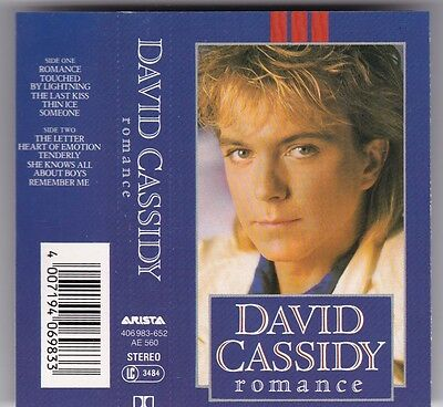David Cassidy - Romance Mc Arista © 1985 Germany Audio Kassette Tape Cassette