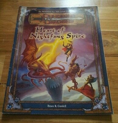 Heart of Nightfang Spire adventure for Dungeons and Dragons 3rd/3.5 Edition