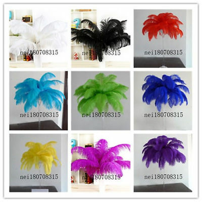 New 10-100pcs natural multi color ostrich feathers 8-24 inches /20-60cm *
