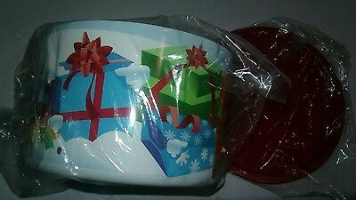New Tupperware Holiday Canister with One Touch Seal Candy,Cookie Storage