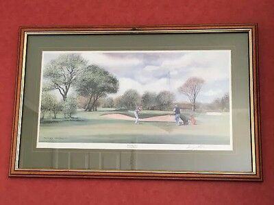 """Sunday Golf By Terry Harrison Signed Framed Golf Print """"free Delivery"""""""