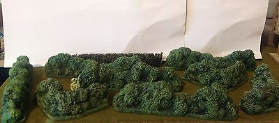 28mm Wargames Scenery, Hedges X9
