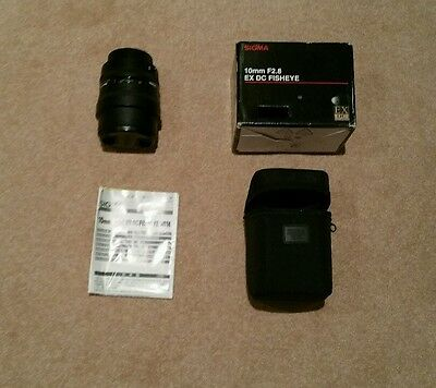 Sigma EX 10mm f/2.8 HSM DC Lens For Canon