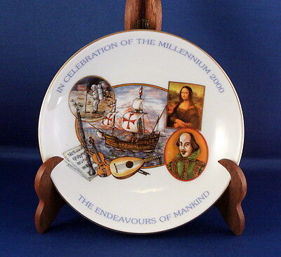 A Very Nice Aynsley 'endeavours Of Mankind' Millennium Commemorative Dish