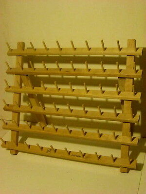 60 Spool Wooden Sewing Thread Rack JUNE TAILOR Craft