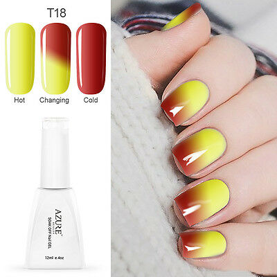 Azure Temperature Change Color Soak Off Gel Nail Polish UV LED Lacquer 12ml