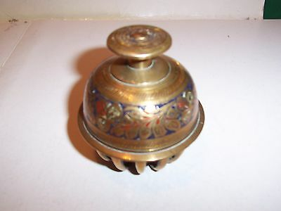VINTAGE BRASS ELEPHANT BELL  3 inches x 2-3/4 inches
