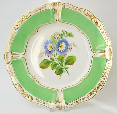 A lovely hand painted antique plate, English, 19th century.
