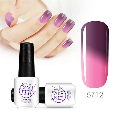 Sexymix UV LED Gel Nail Polish Temperature Change Color Soak Off Nail Cure 7ml
