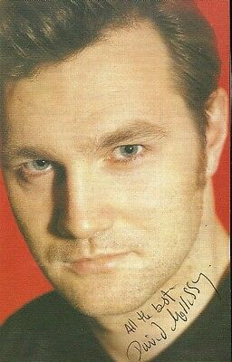 David Morrissey, The Missing). Genuine Original Hand Signed Paper Photo.