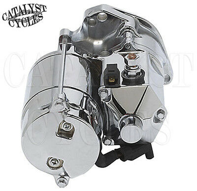 Ultima Thunder Fire Chrome 1.75KW Top Post Starter for Harley EVO & Twin Cam