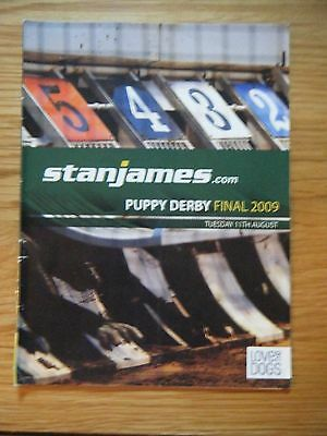 2009 ''puppy Derby Final'' Greyhound Racecard - Wimbledon