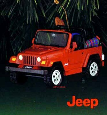 """Jeep Wrangler """"Snow Stopping Us Now!""""  Carlton Cards 1998 ornament"""