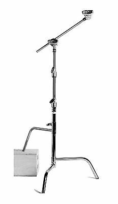 Matthews Hollywood 40in. Double Riser C Stand - Chrome