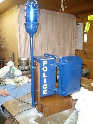 Police Call Box Decal with White Letters (Call Box is Not For Sale)