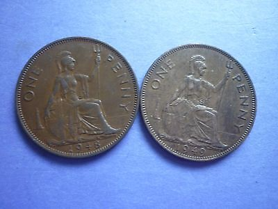 Gt Britain - High Collectable Grade 1948 & 1949 George Vi Pennies