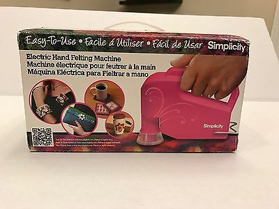 Simplicity Electric Hand Felting Machine New in Box