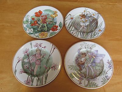 Lot of 4 Heinrich Villeroy & Boch Fairies Of The Fields And Flowers Plates