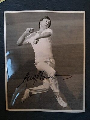 Geoff Lawson Australia test cricketer hand signed 10x8 inch photograph