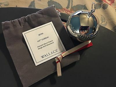 New Wallace  2016 Silver-plate Sleigh Bell - 46th Edition Authorized  Dealer !!!