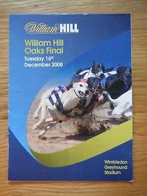 2008 Greyhound Oaks Final Racecard - Wimbledon