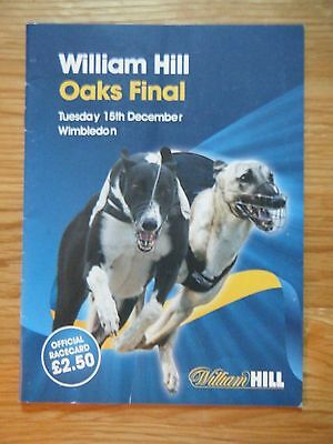2009 Greyhound Oaks Final Racecard - Wimbledon