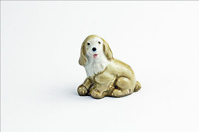 Vintage Wade Whimsies Dog Puppy - Porcelain Animal Figurine - Small Collectable